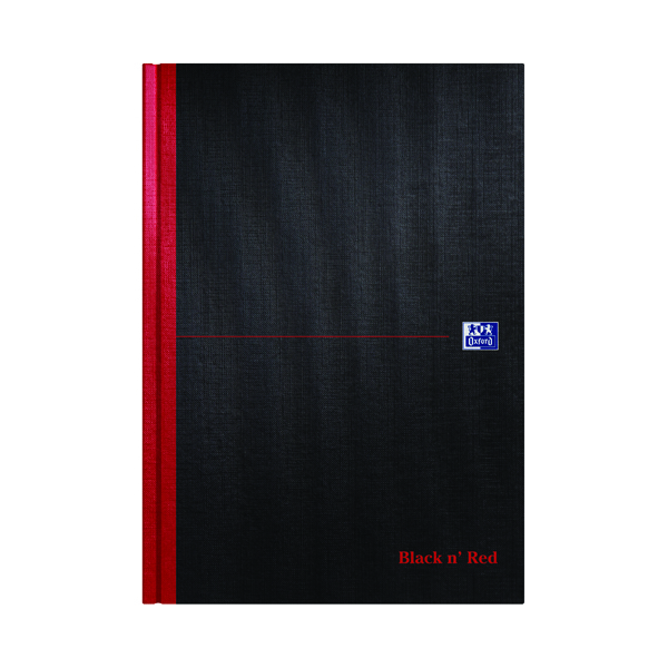 Black n' Red Ruled Casebound Hardback Notebook A4 100080473