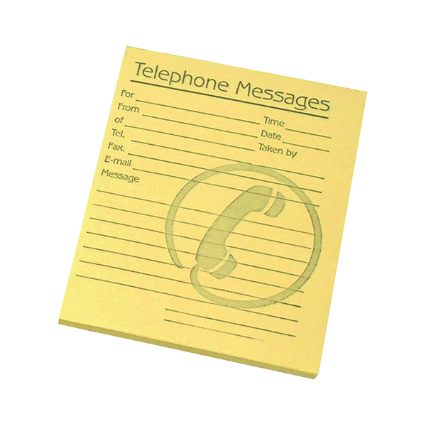 Challenge Telephone Message Pad 127x102mm Yellow (10 Pack) 100080477