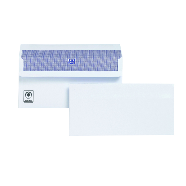 Plus Fabric DL Envelopes Wallet Self Seal 120gsm White (500 Pack) H25470