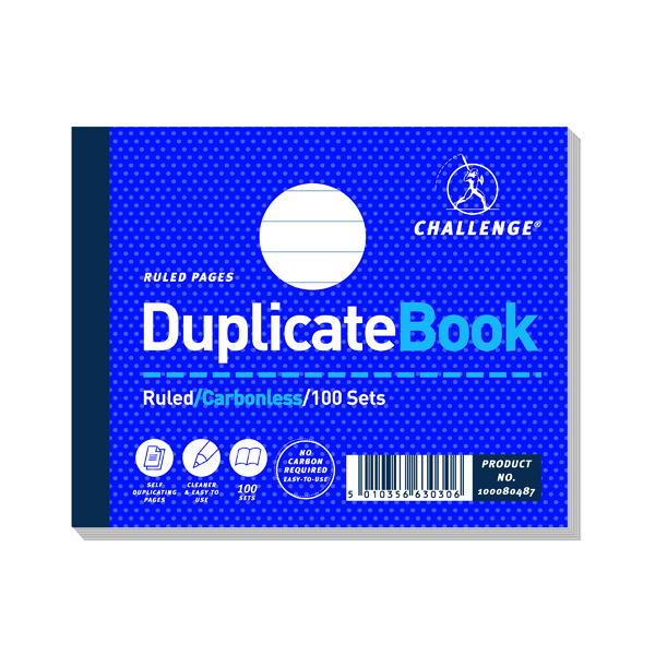 Challenge Ruled Carbonless Duplicate Book 100 Sets 105x130mm (5 Pack) 100080487