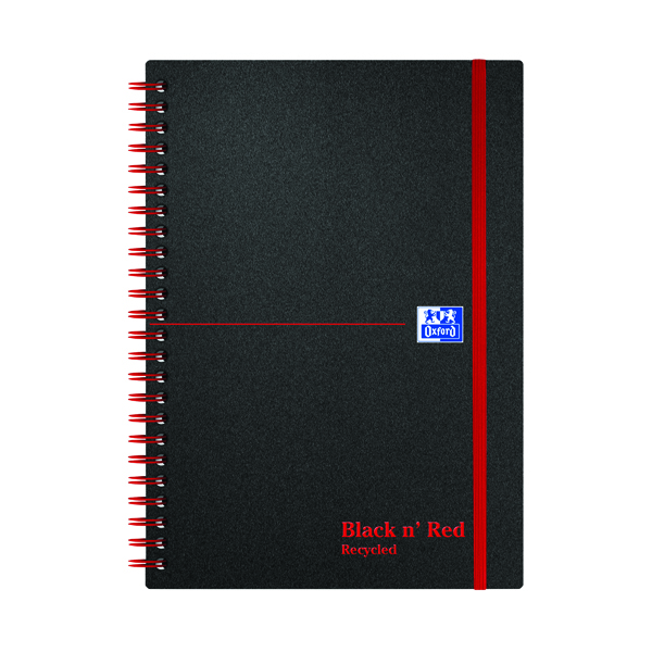 Black n' Red Recycled Wirebound Polypropylene Notebook 140 Pages A5 (5 Pack) 846350963