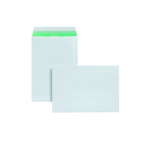 Basildon Bond C4 Envelopes Pocket Peel and Seal 120gsm White (50 Pack) L80281