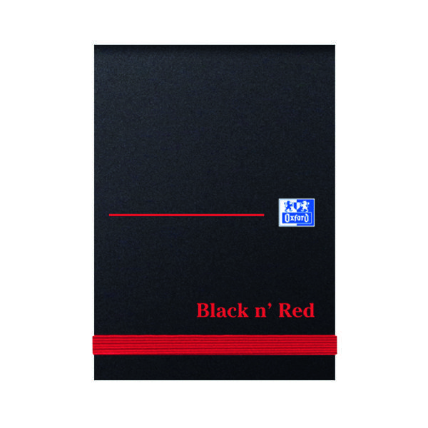 Black n' Red Plain Elasticated Casebound Notebook 192 Pages A7 (10 Pack) 100080540