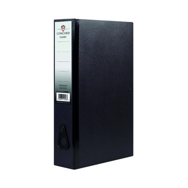Concord Box File Foolscap Black (5 Pack) C1282SP