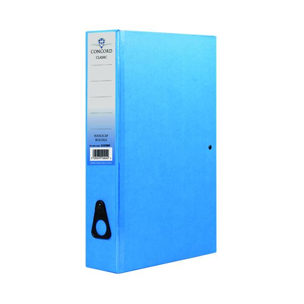Concord Box File Foolscap Blue (5 Pack) C1278SP