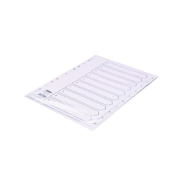 Concord 10-Part 1-10 Index Polypropylene A4 White 64101