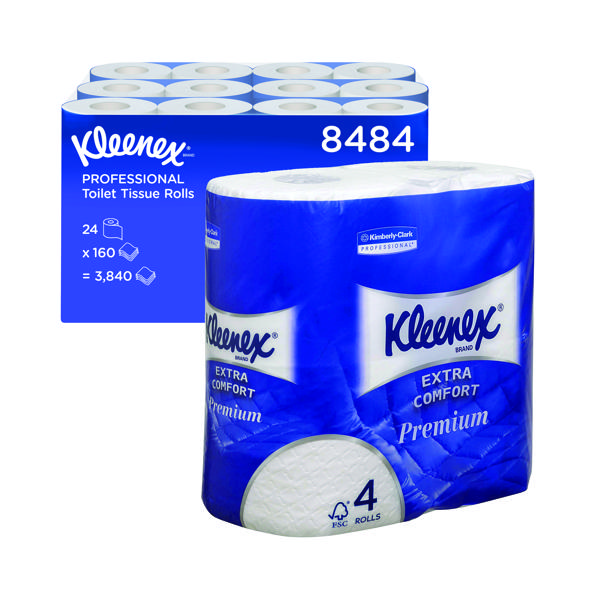 Kleenex 4-Ply Quilted Toilet Roll (24 Pack) 8484