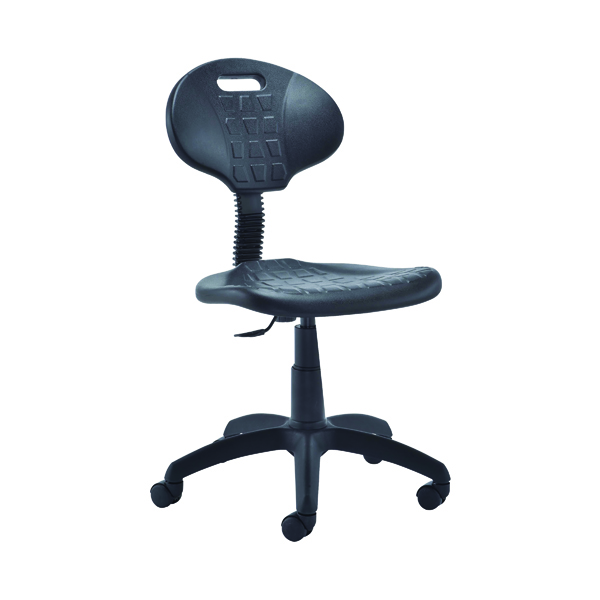 Jemini Factory Chair Polyurethane Black KF00197
