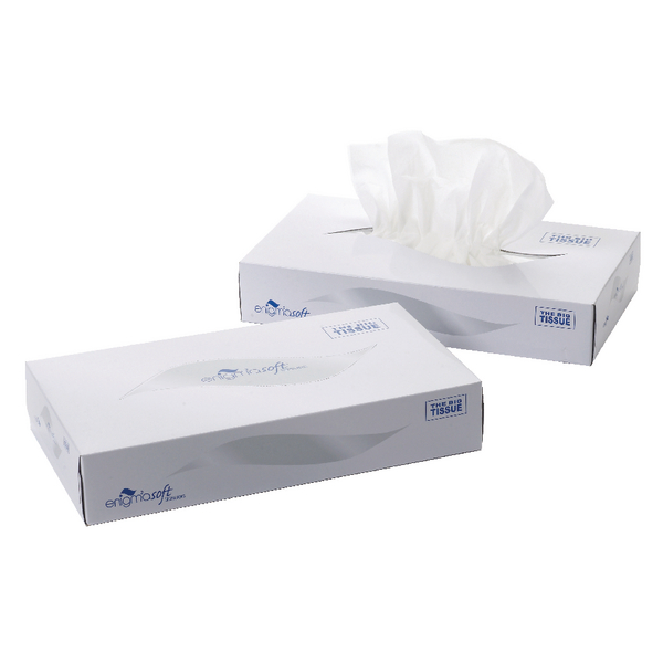 2-Ply White Facial Tissue Mansize 240 x 275mm 100 sheets (24 Pack) MSF100