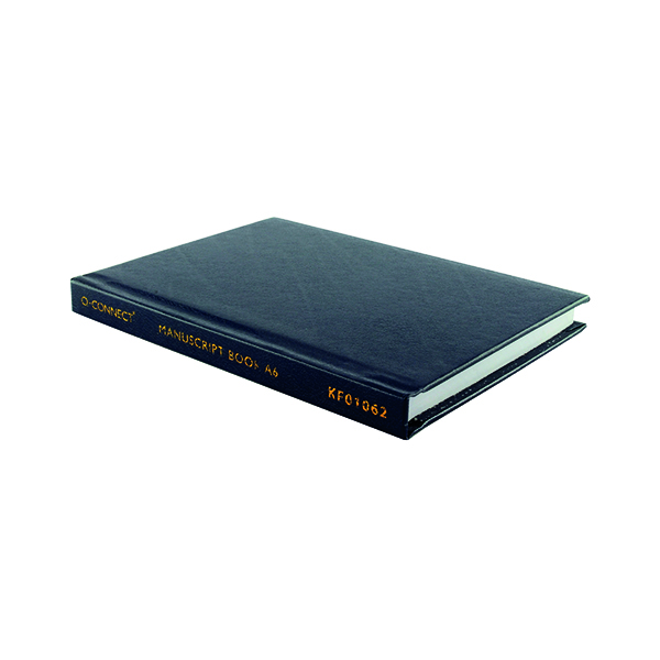 Q-Connect Feint Ruled Casebound Notebook 192 Pages A6 J00066