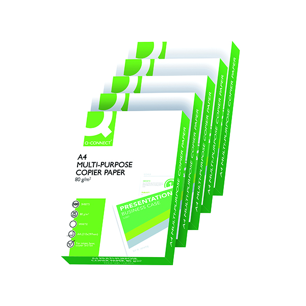 Q-Connect White A4 80gsm Copier Paper (2500 Pack) KF01087