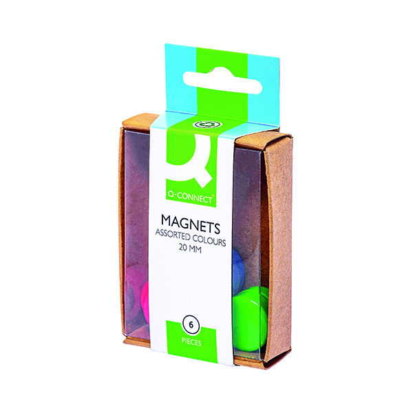 Q-Connect Round Magnet 20mm Assorted (60 Pack) KF02040Q