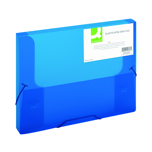 Q-Connect Elasticated Folder 25mm A4 Blue KF02307