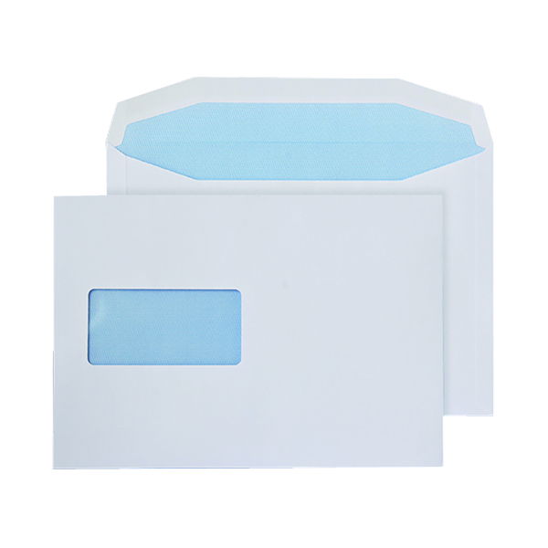Q-Connect Machine Envelope 162x238mm Window Gummed 90gsm White (500 Pack) KF02898