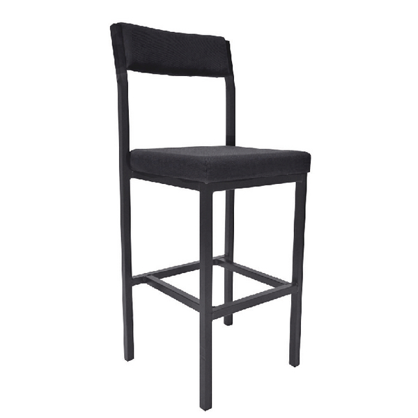 Jemini High Stool with Back Rest Charcoal KF03311