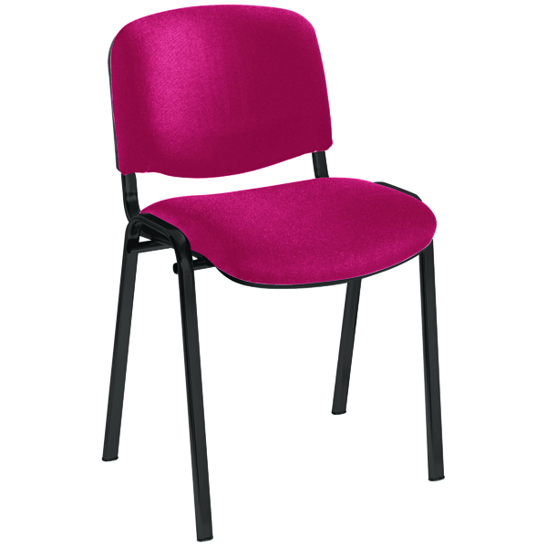 Jemini Ultra Multi Purpose Stacking Chair Claret/Black KF03345