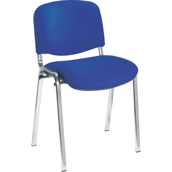 Jemini Ultra Multi Purpose Stacking Chair Chrome/Blue KF03349