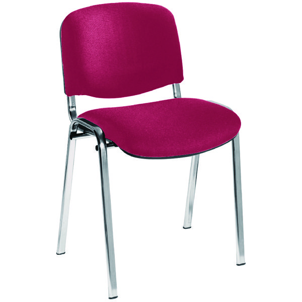 Jemini Ultra Multi Purpose Stacking Chair Claret/Chrome KF03351