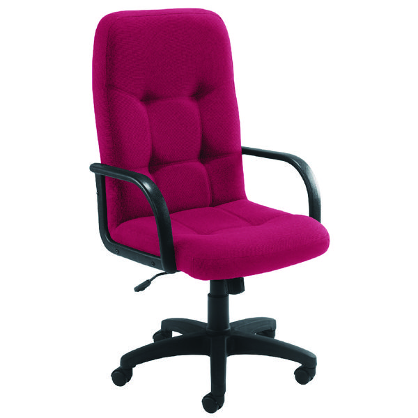 Arista High Back Manager Claret Chair KF03421