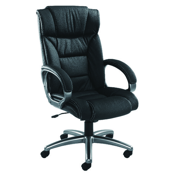 Arista Executive Leather Faced Chair Black KF03437