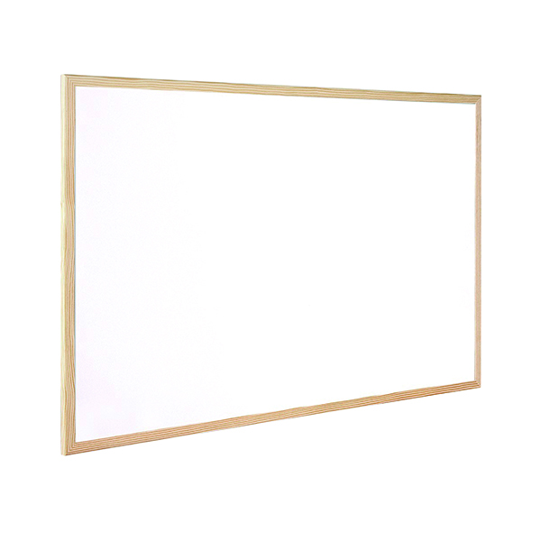 Q-Connect Wooden Frame 400x300mm Whiteboard KF03569