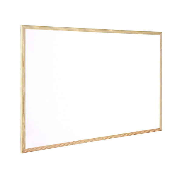 Q-Connect Wooden Frame 900x1200mm Whiteboard KF03572