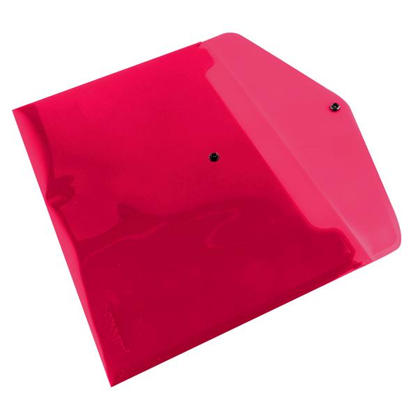 Q-Connect Polypropylene Document Folder A4 Red (12 Pack) KF03594