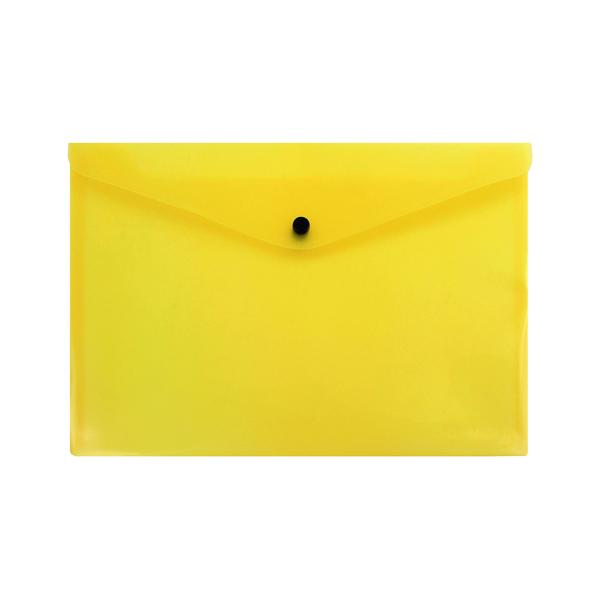 Q-Connect Polypropylene Document Folder A4 Yellow (12 Pack) KF03595