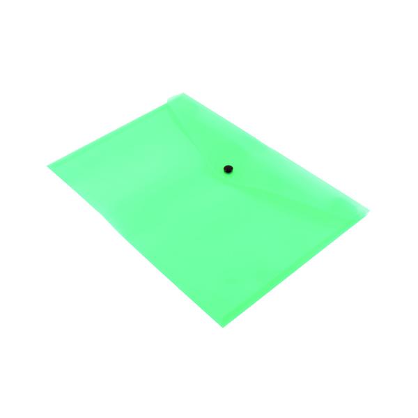 Q-Connect Polypropylene Document Folder A4 Green (12 Pack) KF03597