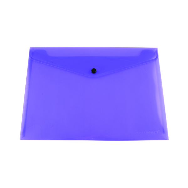 Q-Connect Polypropylene Document Folder A4 Purple (12 Pack) KF03598