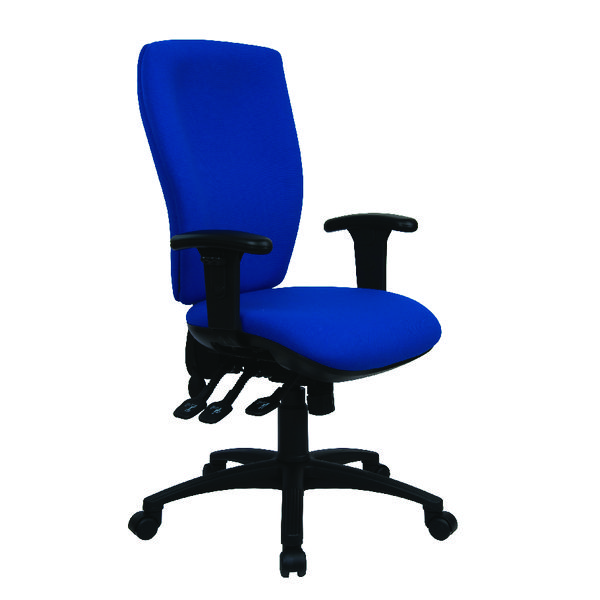 Cappela Deluxe Square High Back Posture Chair Blue KF03616