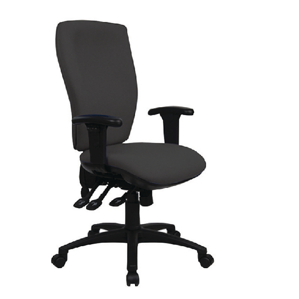 Cappela Deluxe Square High Back Posture Chair Black KF03617