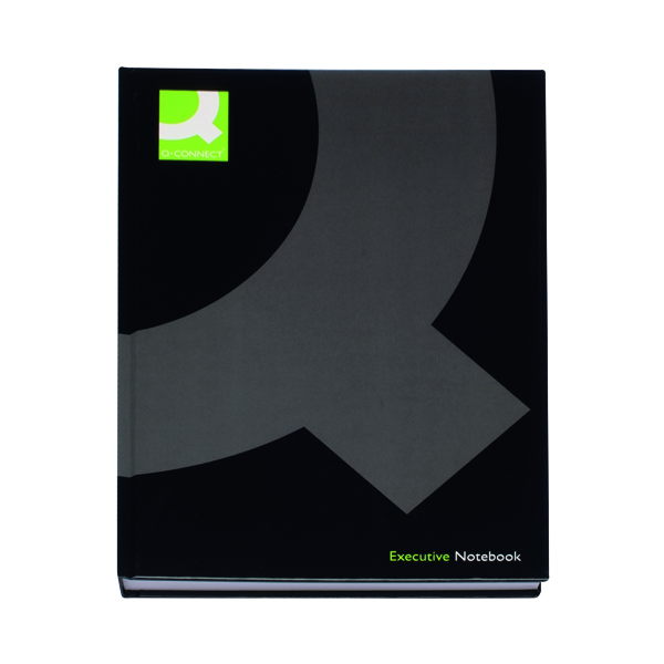 Q-Connect Casebound A4 Hardback Notebook 192 Pages Black (3 Pack) KF03725