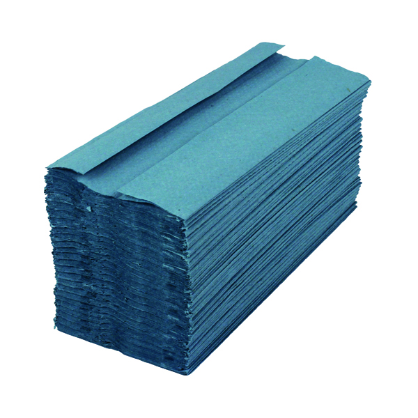 2Work 1-Ply C-Fold Hand Towels Blue (2880 Pack) HC128BLVW