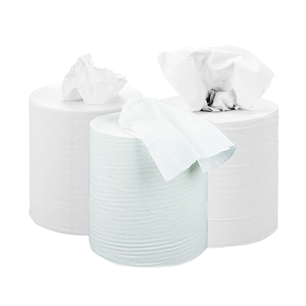 2Work 2-Ply Centrefeed Roll 150m White (6 Pack) KF03804