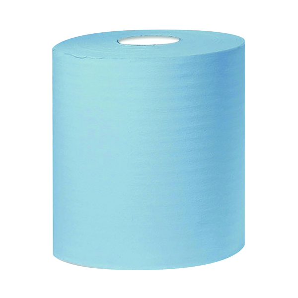 2Work 2-Ply Centrefeed Roll 150m Blue (6 Pack) KF03805