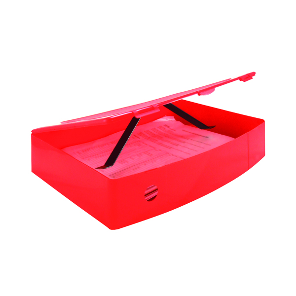 Q-Connect Polypropylene PolyBox File Foolscap Red KF04104