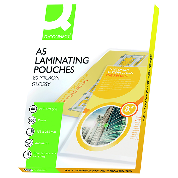 Q-Connect A5 Laminating Pouch 160 Micron (100 Pack) KF04106