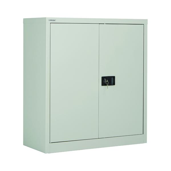 Jemini 2 Door 1000mm Stationery Cupboard Grey KF08501