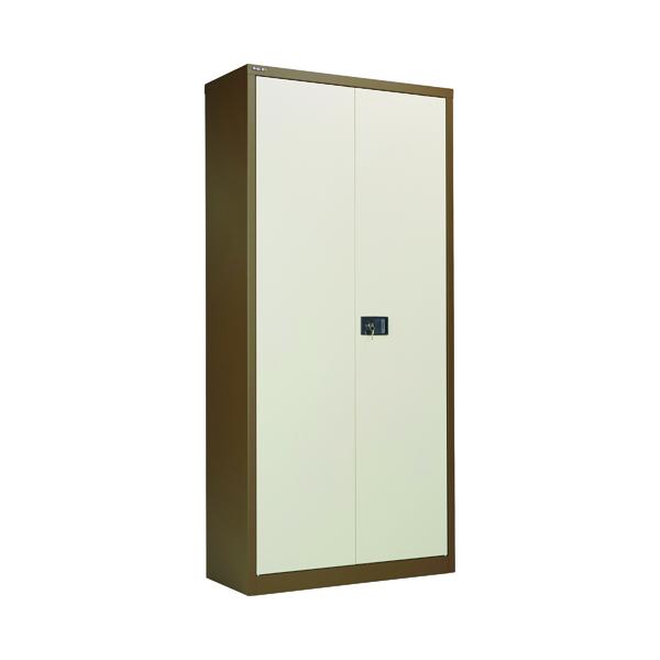 Jemini 2 Door 1950mm Storage Cupboard Coffee/Cream KF08502