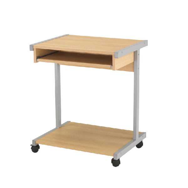 Jemini Intro Oak 650mm Mobile Computer Workstation KF14102