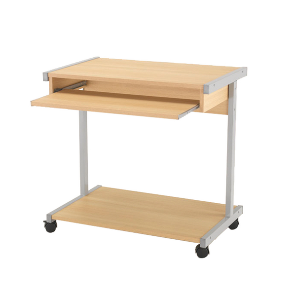 Jemini Oak 800mm Mobile Computer Workstation KF14112