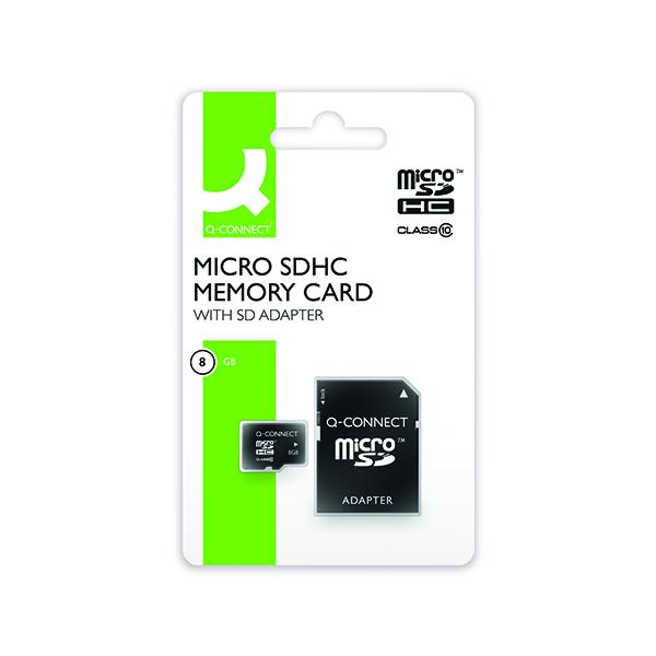 Q-Connect 8GB MicroSD Card Class 10 KF16011