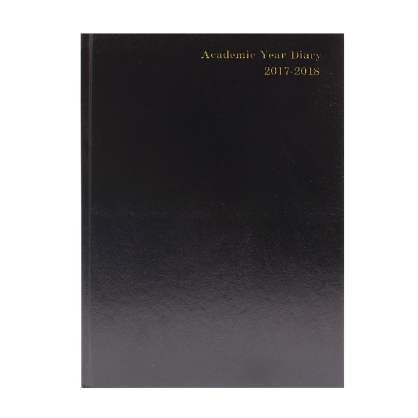 Black 2017/18 A4 Academic Diary Day/Page KF1A4ABK17