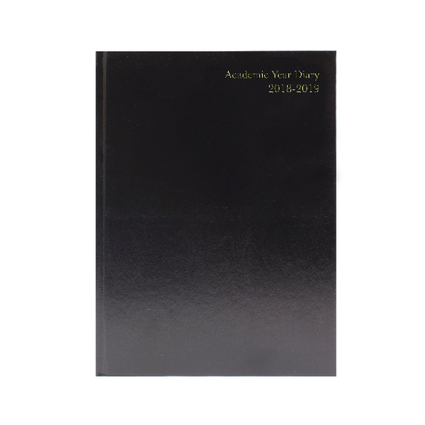 Black 2018/19 A4 Academic Diary Day/Page KF1A4ABK18