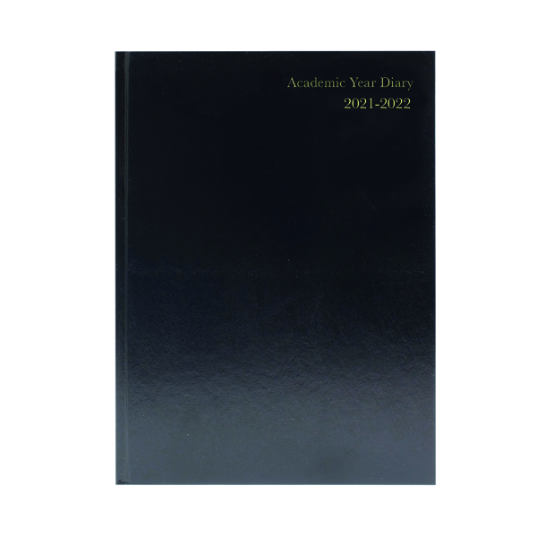 Academic Diary Day Per Page A4 Black 2021-22 KF1A4ABK21