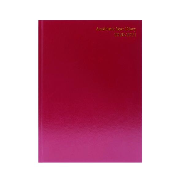 Academic Diary Diary Day Per A5 Burgundy 2020-21 KF1A5ABG20