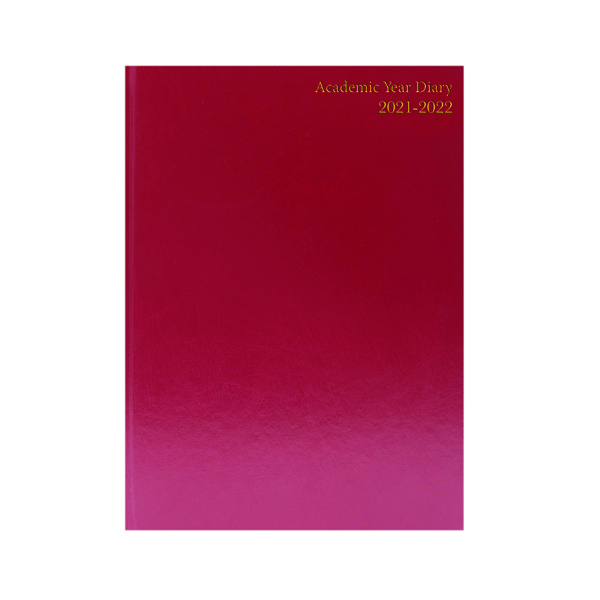 Academic Diary Day Per Page A5 Burgundy 2021-22 KF1A5ABG21