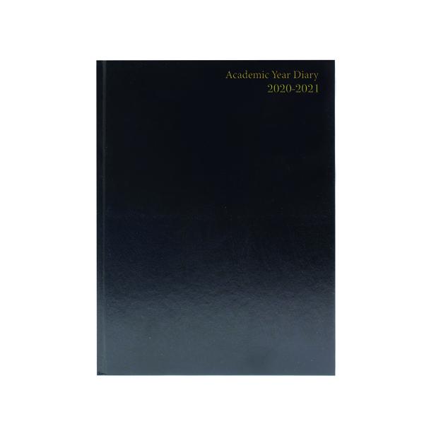 Academic Diary Diary Day Per A5 Black 2020-21 KF1A5ABK20