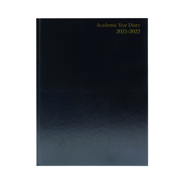 Academic Diary Day Per Page A5 Black 2021-22 KF1A5ABK21